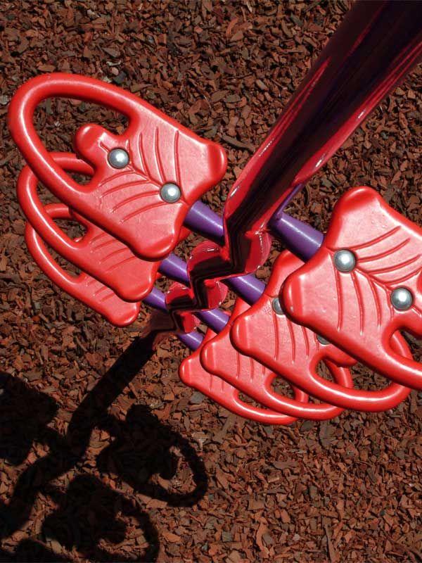 Red Rubber Mulch Playground Safety Surface Cedar GroundSmart