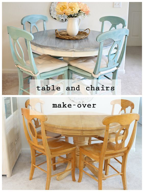 Table and chairs makeover
