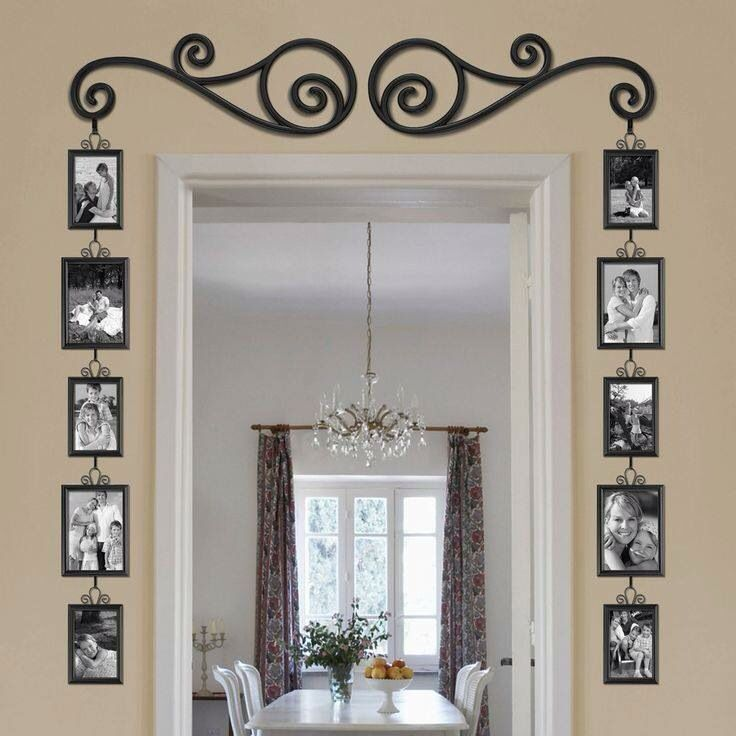 Cute way to add a lot of pictures without using a lot of nails in the