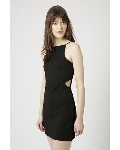 e20097f84ce Women's Black Petite Square Neck Cut-Out Bodycon Dress | stuff ...
