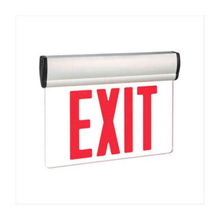 Filament Design Nexis 1-Light Die Cast Aluminum LED Double Face Edgelit Emergency Exit Sign