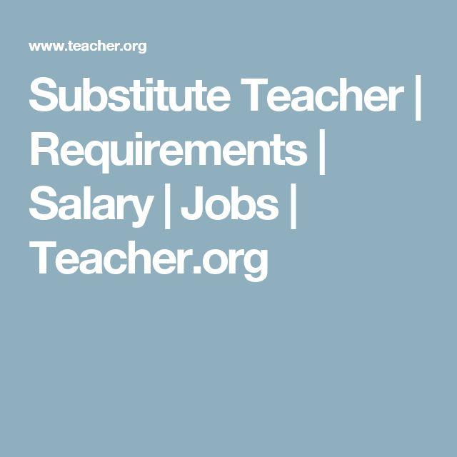 Substitute Teacher | Requirements | Salary | Jobs | Teacher.org