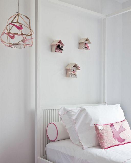 birdhouses: Birdhouses, Birds Theme, Birds Houses, Bedrooms Kids, Bohemian Bedrooms, Bird Houses, Girls Rooms, Kids Rooms, Little Girls Bedrooms