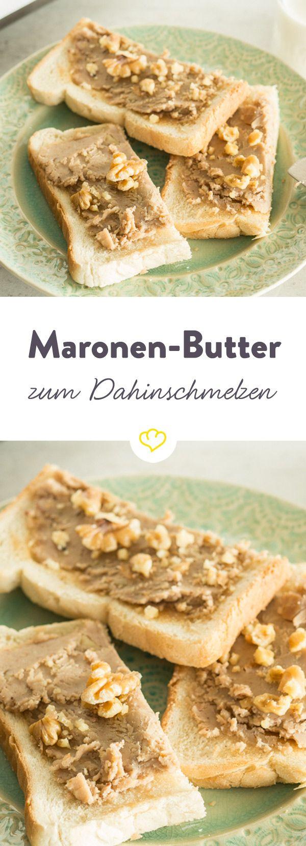 Als Mitbringsel, kleines Geschenk oder ganz für dich alleine – selbstgemachte Maronen-Butter ist zum Dahinschmelzen gut.