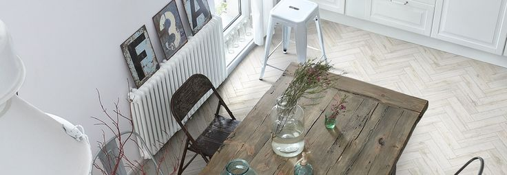 Tuile rectangulaire en format chevron - Plancher et mur | Céragrès