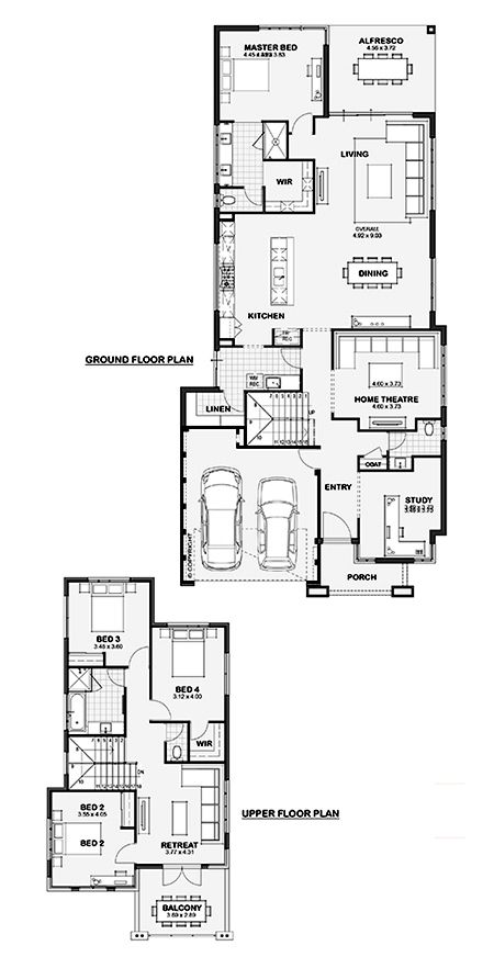 The rockwell double storey home design perth wa for Double storey home designs perth