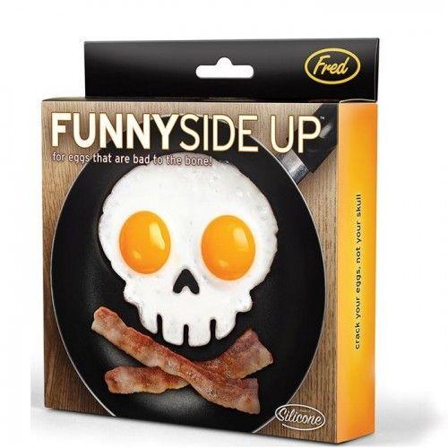 Funny Side Up Skull Egg Shaper  on Yellow Octopus #funny #sideup #skull #egg #shaper  #halloween