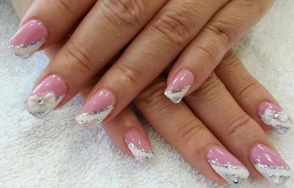 Diseños para manicure, Diseños para manicure novia.  Follow! #uñasdemoda #nailart #uñasdeboda