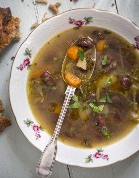 Soupe paysanne aux haricots et jambon de Bayonne