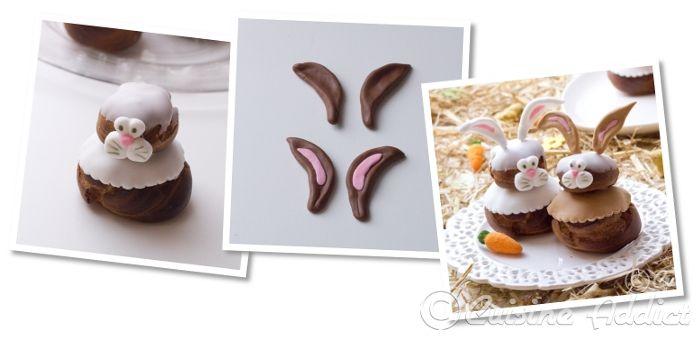 Tuto déco Petits lapins en pâte à sucre pour religieuses déguisées {Niveau débutant}