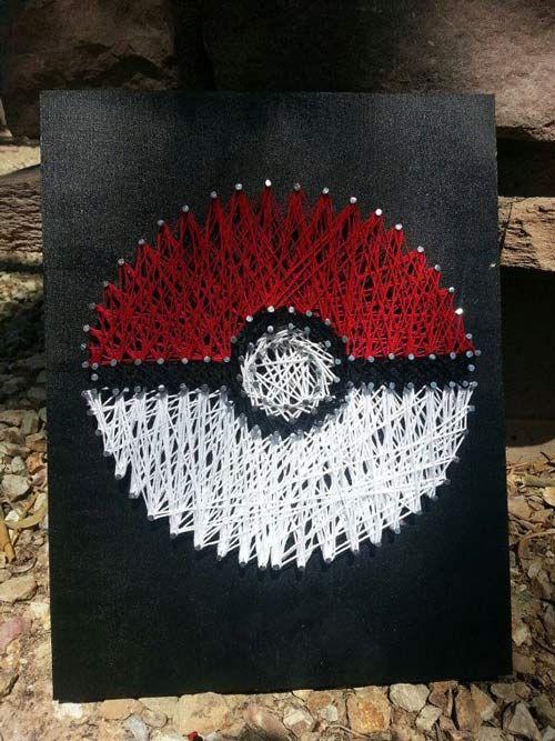 pokemon string art gift idea. I really want to do this