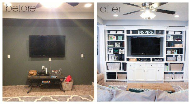 The Basement Built In Entertainment Center Amp Bookshelves