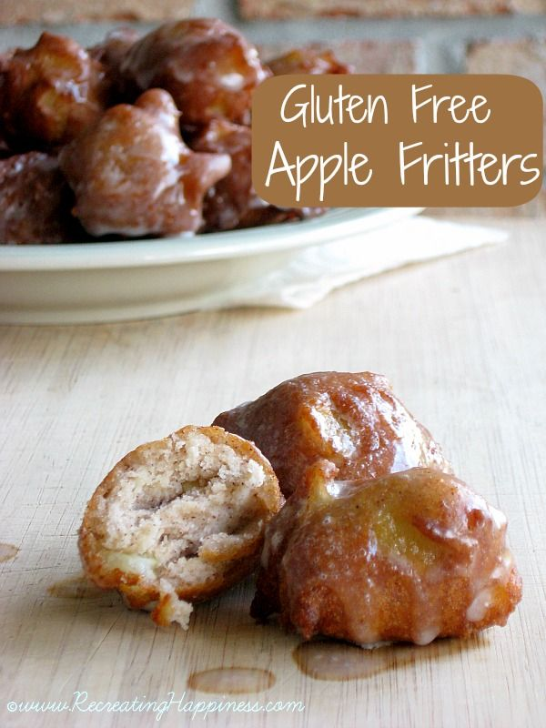 {Gluten Free} Apple Fritters: Apple Fritters, Gluten Free, Healthy Recipes, Glutenfree, Apples Fritters Mad, Fritters Gluten, Free Recipes, Gf Apples, Free Apples