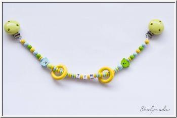 #Strickparadies - #Bärchen-#Kinderwagenkette mit #Namen _02