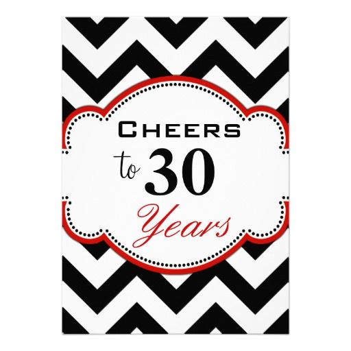 Best Th Birthday Gifts And Party Invites Images On Pinterest - Birthday invitation 30 years old