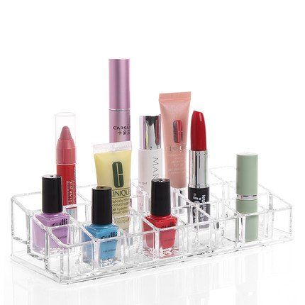 G2PLUS Acrylic Lipstick Holder Organizer 24Slots Trapezoid Clear Cosmetic Storage Display Stand for Lip Gloss Lotion Nail Polish 3x8 Lipsticks *** Read more reviews of the product by visiting the link on the image.Note:It is affiliate link to Amazon.