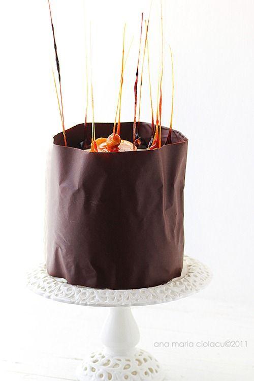 Tort de ciocolata cu orange curd