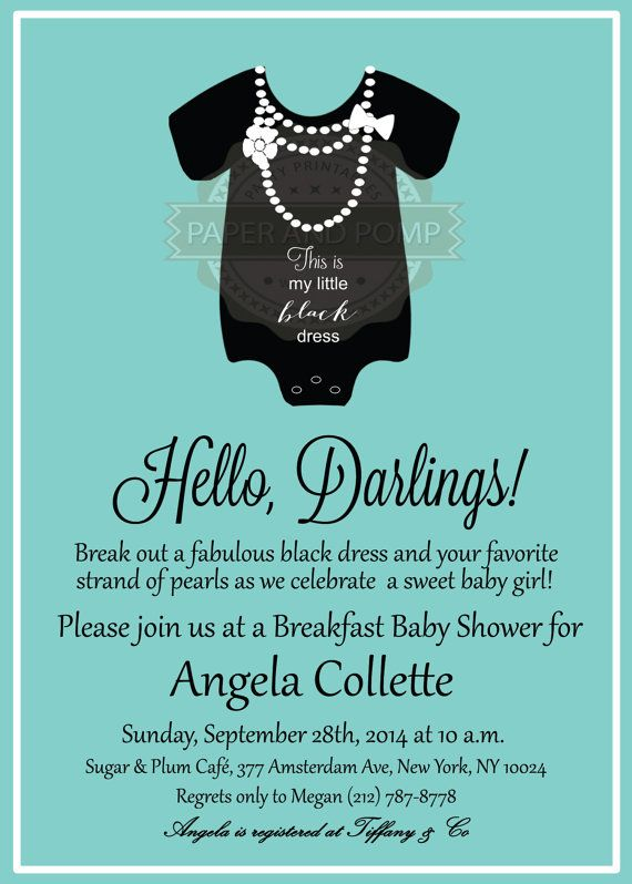 Hey, I found this really awesome Etsy listing at https://www.etsy.com/listing/200558137/breakfast-at-tiffanys-baby-shower