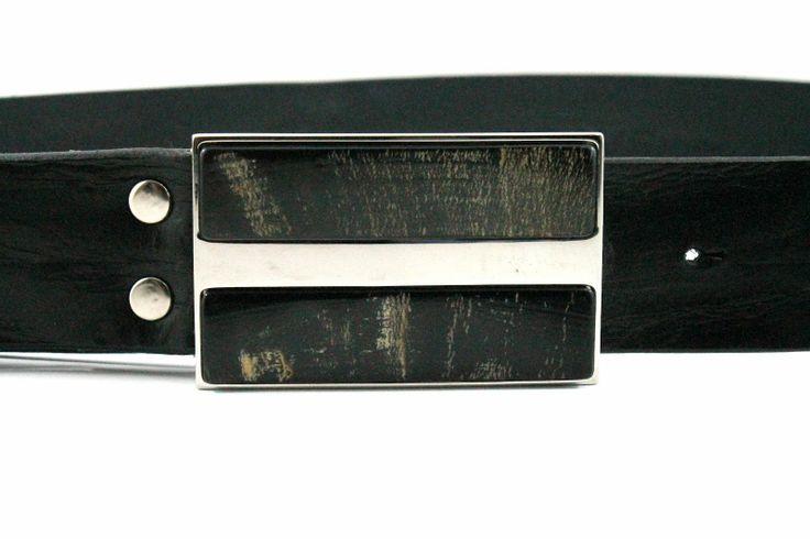Brave Leather Mancoe Belt with bone detail buckle.