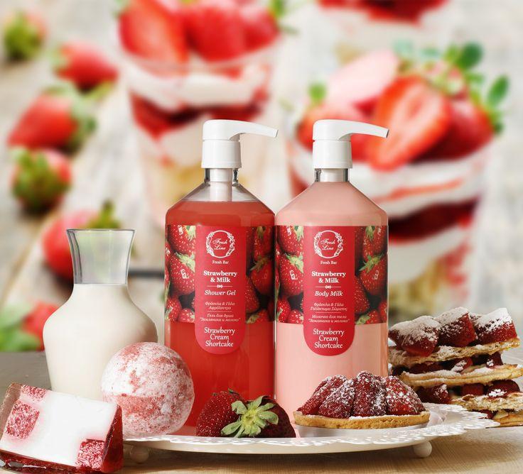 #NEW Strawberry & Milk Collection Αναμείξαμε τη φράουλα και το γάλα μαζί με άλλα συστατικά και δημιουργήσαμε το δικό μας #strawberry #cream #shortcake! Γλυκιά και ζωηρή, αυτή η μυρωδιά θα κερδίσει τις εντυπώσεις μικρών και μεγάλων... Αναζητήστε τα προϊόντα της νέας συλλογής Φράουλα & Γάλα στο Fresh Bar των καταστημάτων μας και αποκτήστε τα στην ποσότητα που εσείς επιθυμείτε! #soldbyweight