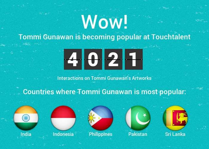 """Tommi Gunawan"" #Creative #Art @Touchtalent"