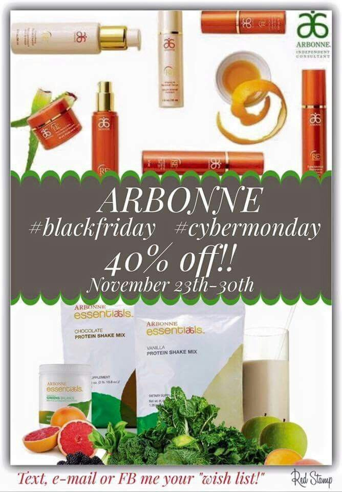 Arbonne Black Friday.#blackfriday #cybermonday Shop online at: http://luzmariaheredia.arbonne.com