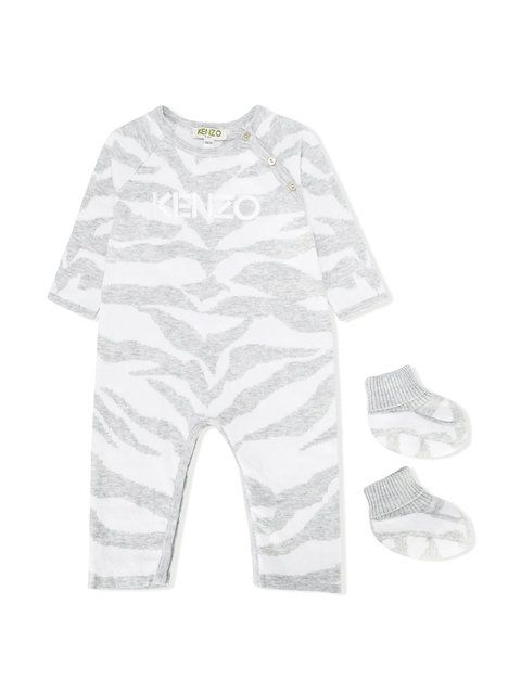 Kenzo Kids  romper and booties gift set