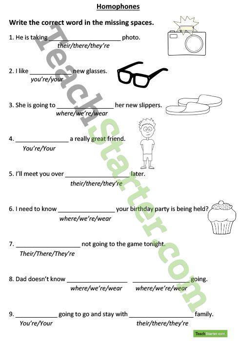 homophones worksheet teaching resources teach starter writing grammar pinterest. Black Bedroom Furniture Sets. Home Design Ideas