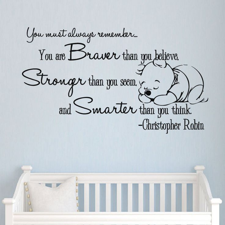 Winnie the Pooh Vinyl Sticker Christopher Robin Wall Decals Quotes Nursery The size of the decal is 20''x 35'' - The size shown in the picture may not reflect the true size. It is for the showing purp