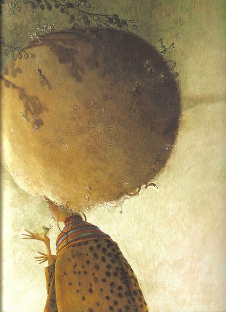 Princesa de la Selva (from the 'The Princesses book') by Rebecca Dautremer