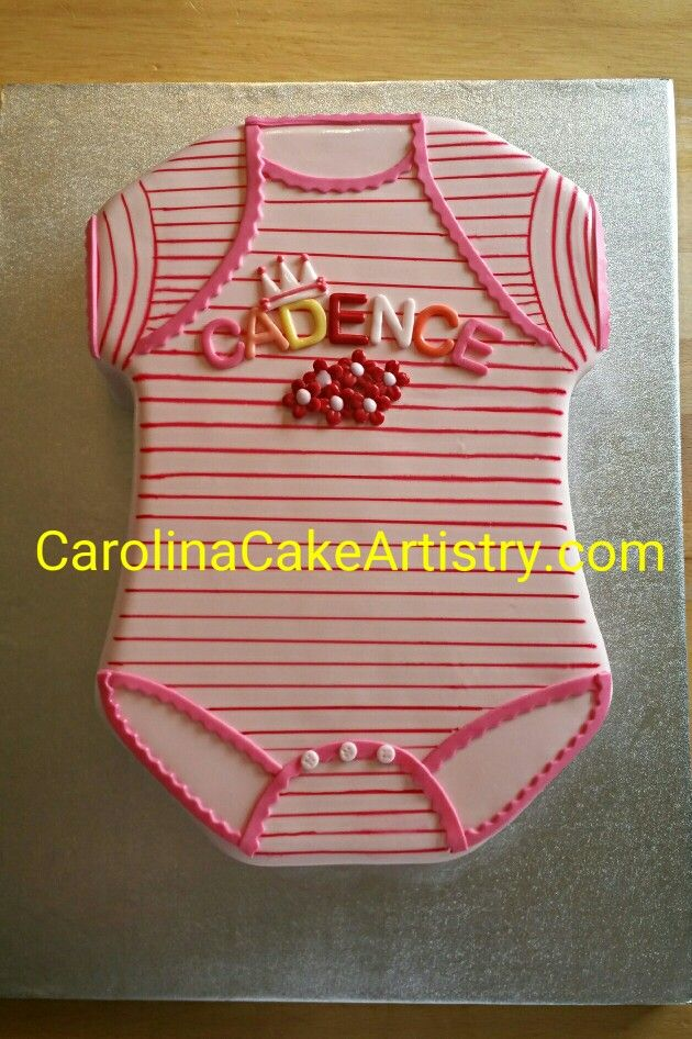 Baby girl onsie cake for a shower!