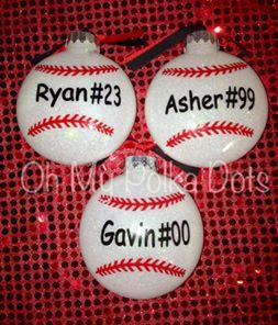 Christmas Vinyl Sports Ornament Glitter by ShabbyChicCreationz