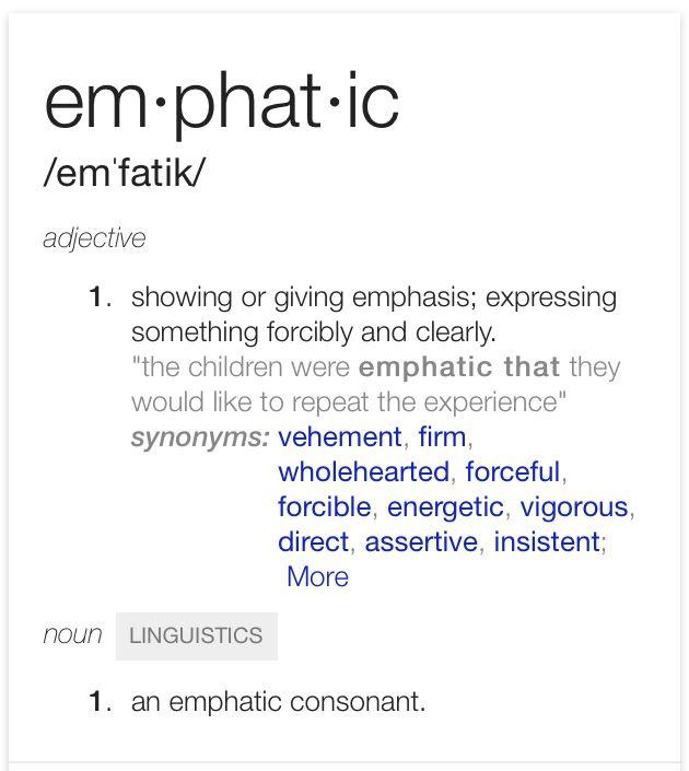 Wonderful Emphatic
