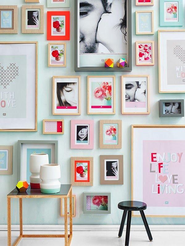 PASTEL: Frames wall   #wall #frames