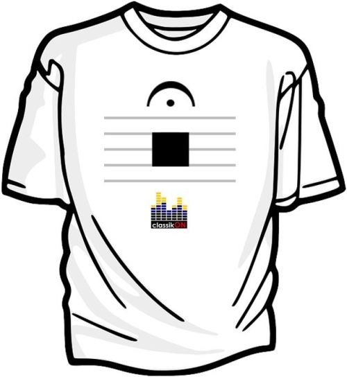 (Pause symbol) and (rest symbol) | classikON t-shirt competition - What have you always wanted to broadcast about classical music?
