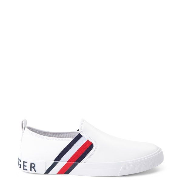 Womens Tommy Hilfiger Julian Slip On Casual Shoe White Tommy Shoes Tommy Hilfiger Shoes Tommy Hilfiger Outfit