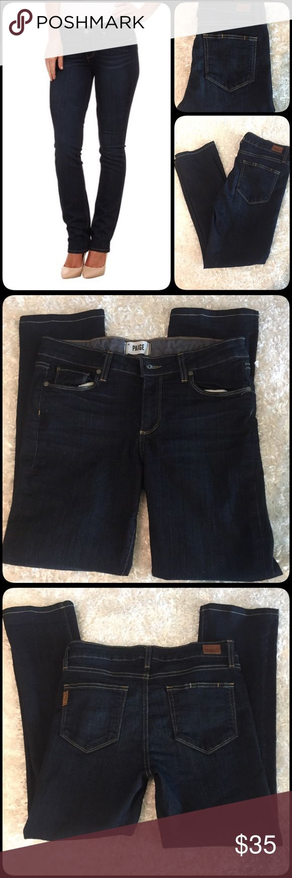 Paige Skyline Straight jeans 🌇⚡️1 day only sale⚡️ Paige Skyline Straight jeans in excellent like new condition a true beauty size 30x27 Paige Jeans Jeans