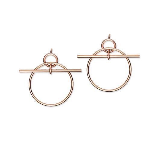 Loop Boucles d'oreilles petit modèle en or rose