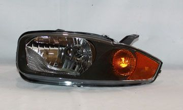 2003-2005 Chevy Cavalier Chrome/Clear Euro Headlights - TYC - Left - Driver - 2003, 2004, 2005.