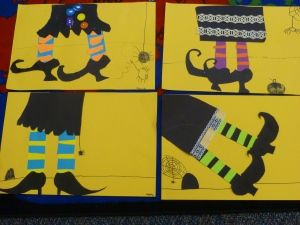 witch legs one of my halloween favorite art projects creativityiscontagiousorg - Preschool Halloween Art Projects