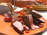Hands down my all-time favorite steak recipe.    Works great with boneless ribeye as well.  To save time, I skip the tomato relish.  Dark french roast is the way to go with the coffee beans.    I also use canola oil instead of olive oil for searing - less smoke. Swap the jalapeno in the relish for habanero for a little extra kick.