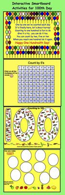 Smartboard:++Hundredth+Day+Activities+and+Printables+from+Teaching+The+Smart+Way+on+TeachersNotebook.com+-++(13+pages)++-+Fun+interactive+activities+for+Hundredth+Day
