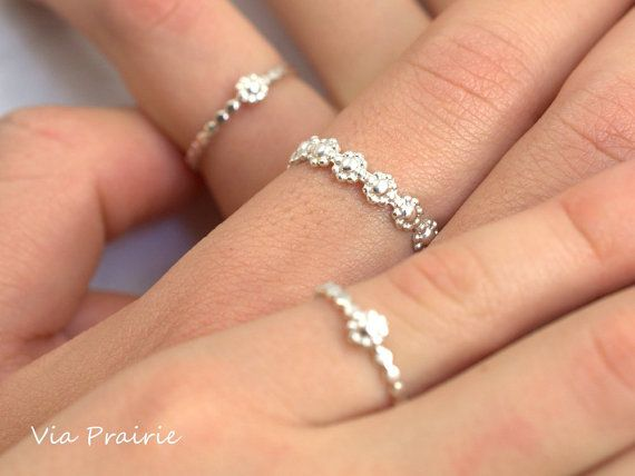 Mother Daughter ring, Mom and Baby ring, Baby shower gift, Mom and Baby jewelry, Mom kids ring set, Sisters jewelry, Sterling silver ring