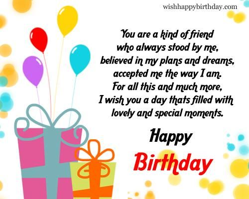 Lifetime Friend Birthday Quotes You only meet your once in a – Birthday Greeting for Her