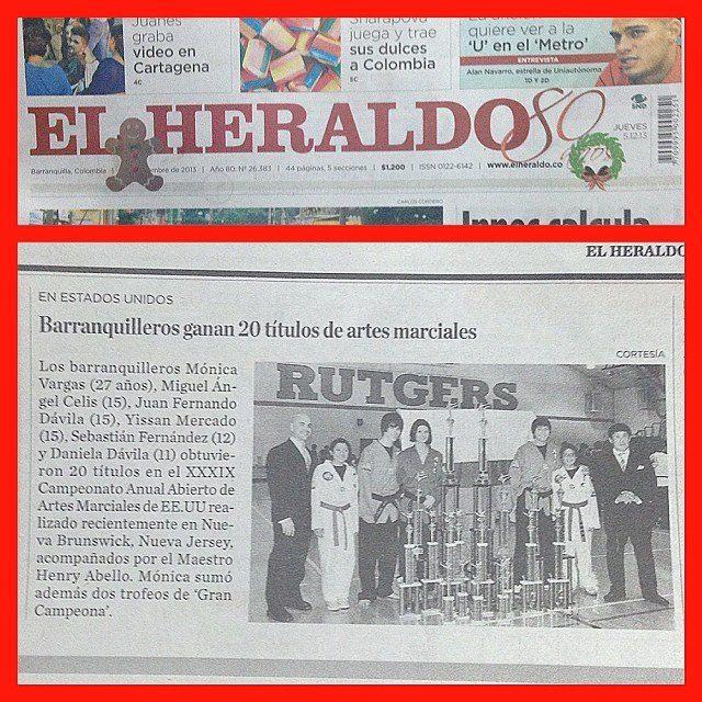 Reportaje en la sección deportiva de @elheraldoco - ¡felicidades a nuestro equipo de competencia!