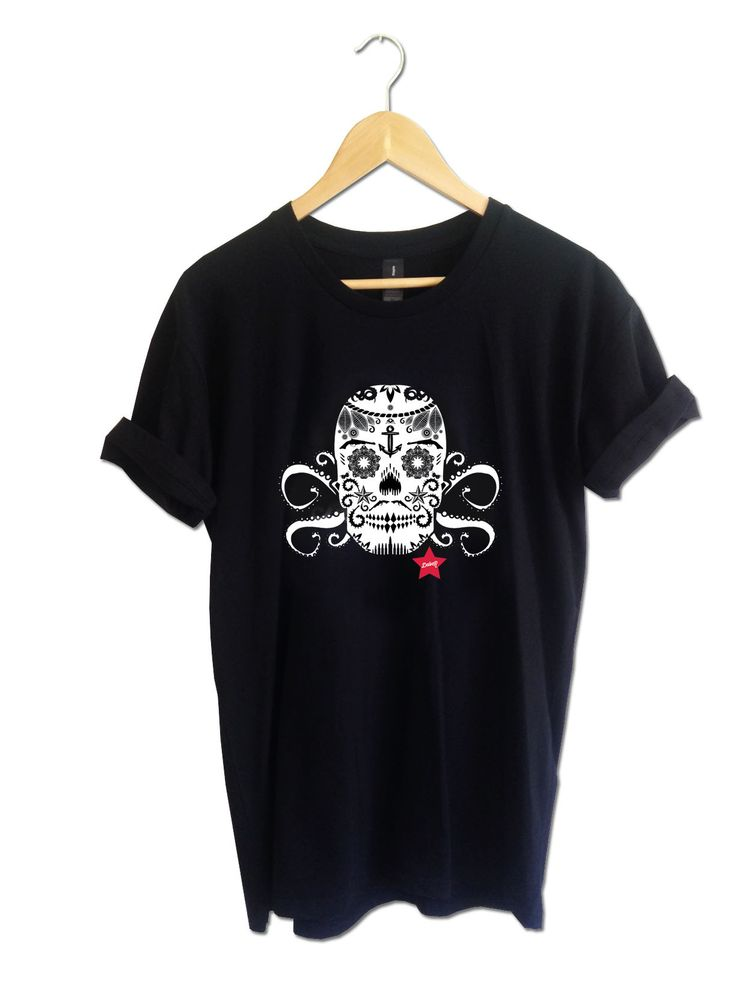 Limited edition skulltopus men's tee. Available in various colours