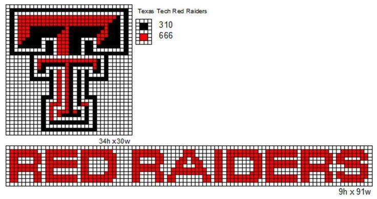 texas tech red raiders perler - Google Search   Texas tech ...