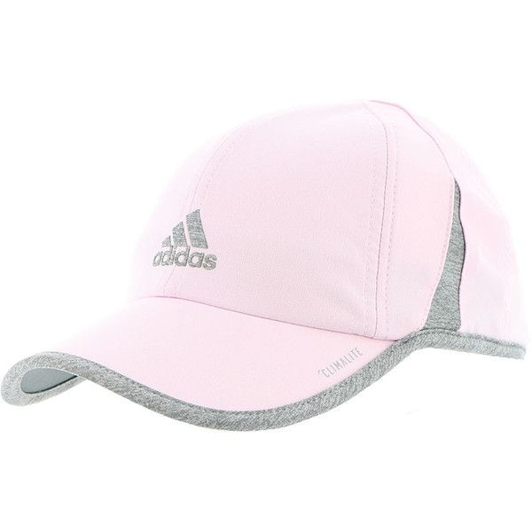adidas Women's SuperLite Cap Pink Hats (390 EGP) ❤ liked on Polyvore featuring accessories, hats, pink, six panel hat, 6 panel hat, pink cap hat, 6 panel cap and upf hat
