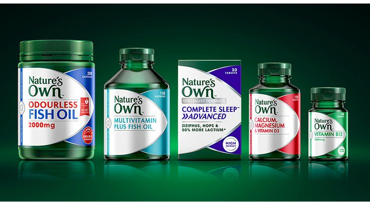 Nature's Own supplement range #labels #bottles #green #box