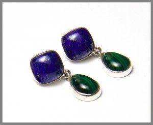Malachite Lapis Lazuli Earrings